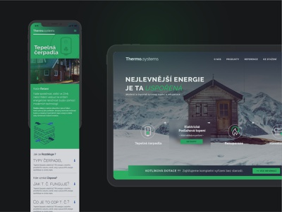 Thermo.systems green webdesign onepage subpage service energy commercial background photography jumbotron ux ui homepage typography index clean branding website web minimal