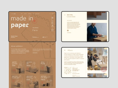 made in paper web webdesigns web design grid illustration brand design typography minimal about visual identity exhibition design subpage subpages index website exhibition project student homepage webdesign web