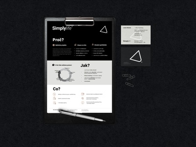 Simplylife blackandwhite brand design design bronze a4 flyer leaflet black clean logo businesscard merchandise onesheet flyer visual identity branding