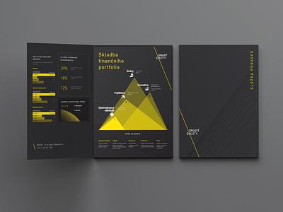 Smart Equity visualization infographic data numbers graphs scheme graph folder design folder flyer visual identity identity dark agency finance financial services design yellow branding branding design