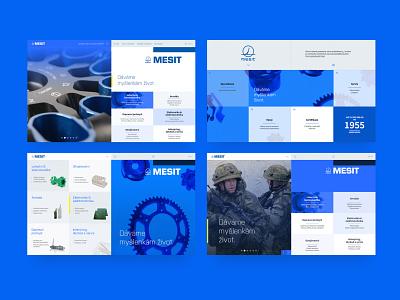 Mesit 4x company website web website homepage index drafts blue design cyan blue identity brand design visual identity typography branding grid layout design minimal clean