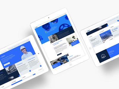 Mesit blue website cyan webdesign homepage design website index homepage brand design branding typography grid layout design minimal clean