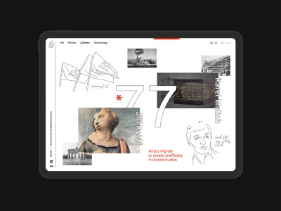 An Interactive Guide to the Czech art history timeline website webdesign web sideproject school project illustration illustrative minimal learning app history app history cultural creative art direction art history art