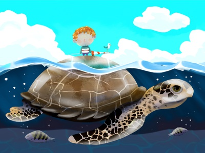 Ta pa casi pa playa. procreate digitalart childrens illustration illustration