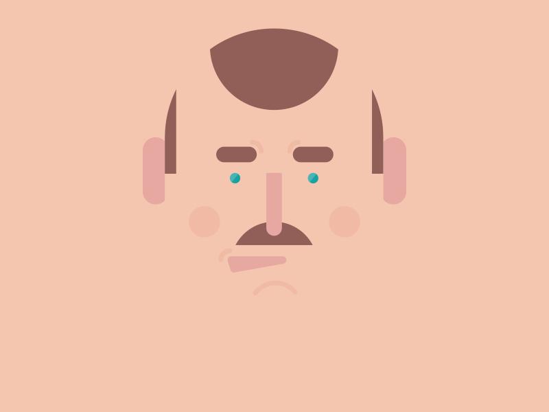 Man man illustration face