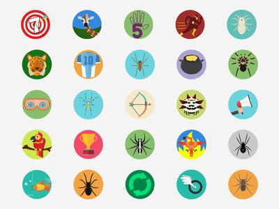 Achievement Icons - Spider Solitaire
