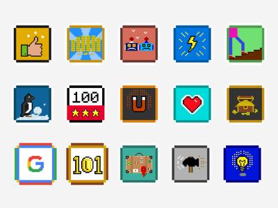 Achievement Icons - Retro Maze