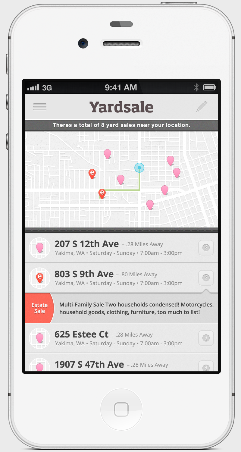 Dribbble - yardsale-app-phone png by Jared West