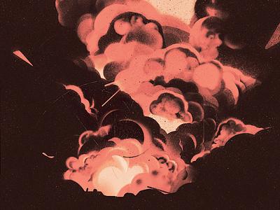 Assassination karolis strautniekas explosion politics texture editorial folioart digital illustration
