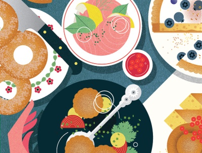 Finnish Cuisine sally caulwell culture food texture vector editorial folioart digital illustration