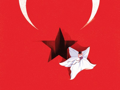Eloping Tradition eleni debo culture flag conceptual texture editorial folioart digital illustration
