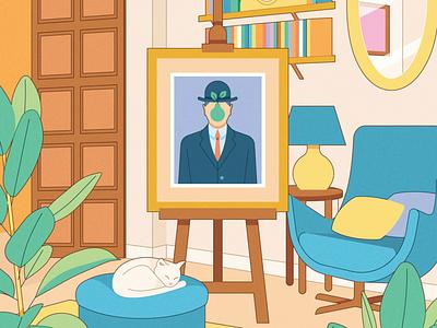 Ecosystems of Art home kiki ljung painting art interior vector editorial folioart digital illustration