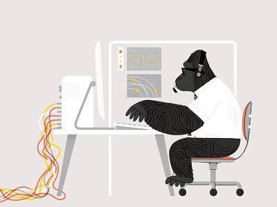 Gorilla Gorilla! nick radford branding techonology animal gorilla character folioart digital illustration