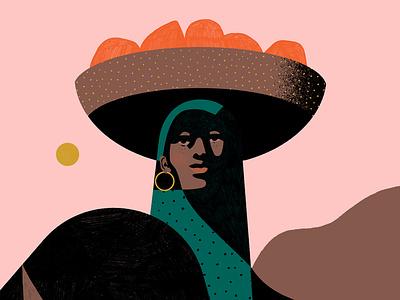 International Women's Day billy clark pattern plant woman portrait character folioart digital illustration
