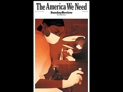 Inequality karolis strautniekas cover medical health texture editorial folioart digital illustration