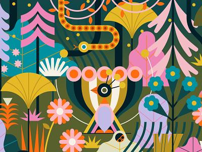 Z by HP owen davey fantasy nature animals character forest software folioart digital illustration
