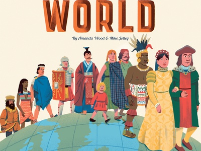 Human World andres lozano childrens book history landscape publishing character folioart digital illustration