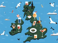 Tincture Bar michael driver city london map character editorial folioart digital illustration