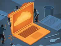 Cyber Crimes stephan schmitz technology conceptual crime editorial folioart digital illustration