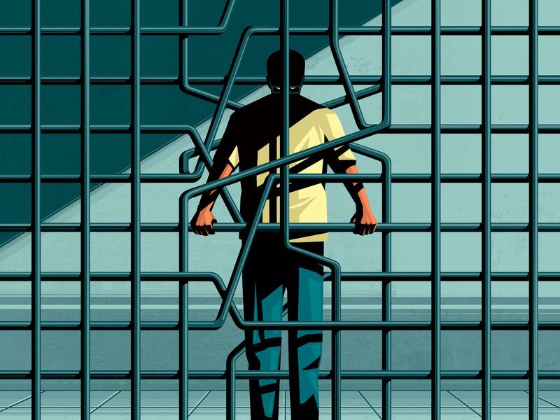 Culprit or Victim stephan schmitz conceptual character editorial folioart digital illustration