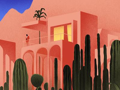 Spring/Summer karolis strautniekas cacti landscape car fashion artisan architecture character folioart digital illustration