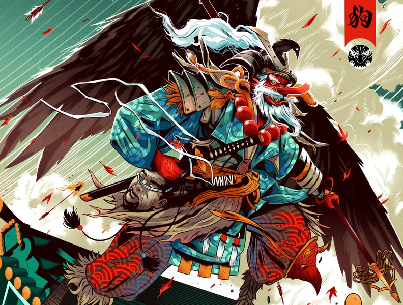 Tengu narrative alexander wells folioart digital illustration character fantasy