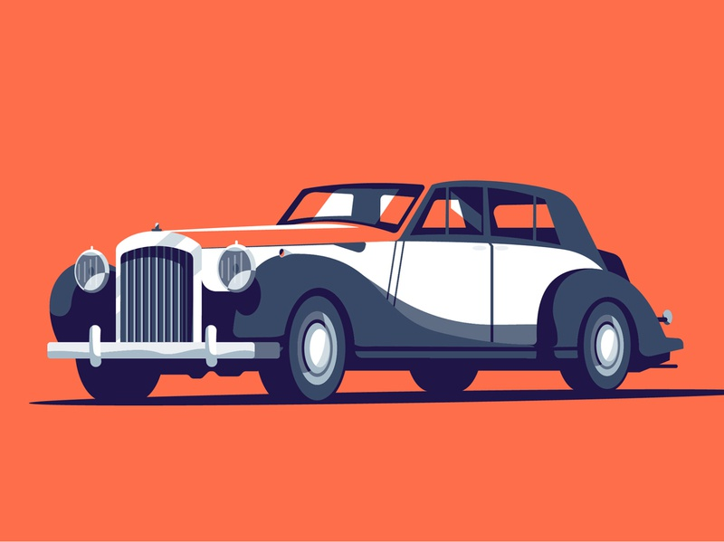 Car classic car peter greenwood branding vector editorial folioart digital illustration