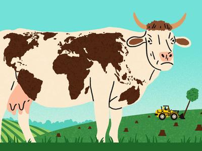 Farming michael parkin animal environment climate landscape texture editorial folioart digital illustration