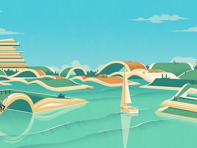 The Land of Independents rui ricardo conceptual advertising media landscape editorial folioart digital illustration