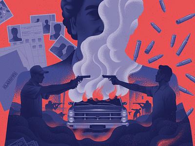 Pablo Escobar kouzou sakai texture silhouette conceptual magazine cover editorial folioart digital illustration