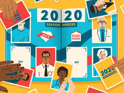 Season Heroes doctors michael parkin medical character editorial folioart digital illustration