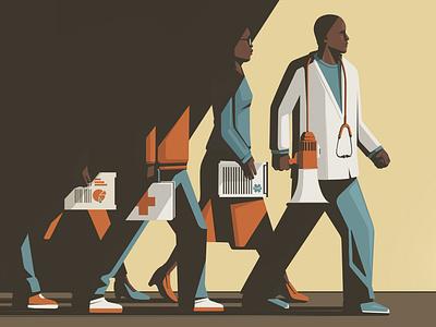 Health Disparities stephan schmitz medical health conceptual editorial folioart digital illustration