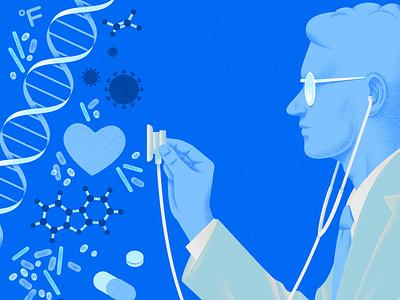 Autoimmune Diseases texture kouzou sakai science medical doctor editorial folioart digital illustration