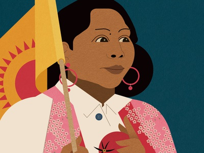 Lupe Gonzalo sally caulwell woman portrait vector folioart digital illustration