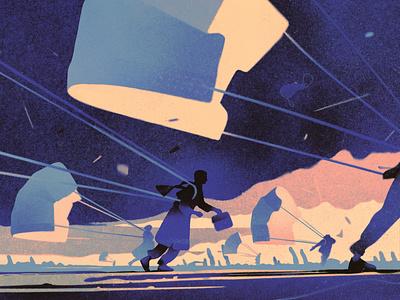 Pandemic karolis strautniekas medical texture silhouette conceptual editorial folioart digital illustration