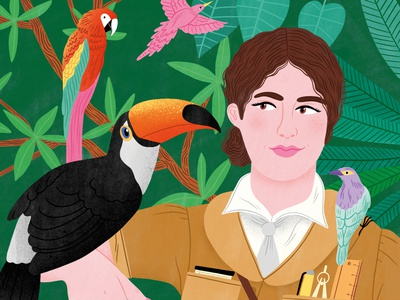 Emilie Snethlage woman bodil jane publishing book birds nature portrait folioart digital illustration