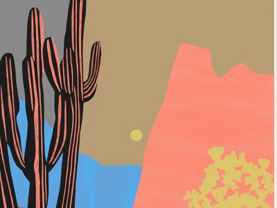 Vinyl billy clark pattern abstract landscape folioart digital illustration