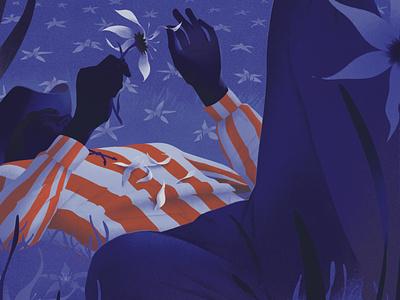 Relations america conceptual eleni debo editorial texture folioart digital illustration