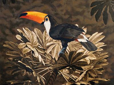 Toucan finn campbell notman wildlife bird nature folioart illustration oil painting