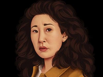 Eve realist mercedes debellard tv celebrity portrait folioart digital illustration