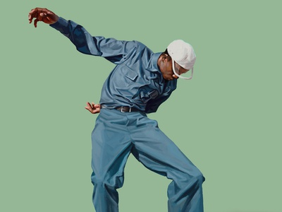Ballet daniel clarke man realist digital painting dance fashion folioart digital illustration