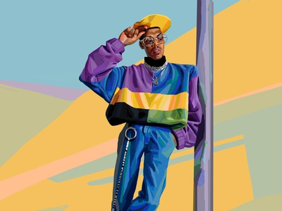 Street Style daniel clarke digital painting street style fashion character folioart digital illustration