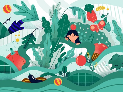 Sustainability colourful character environment sustainability folioart digital illustration