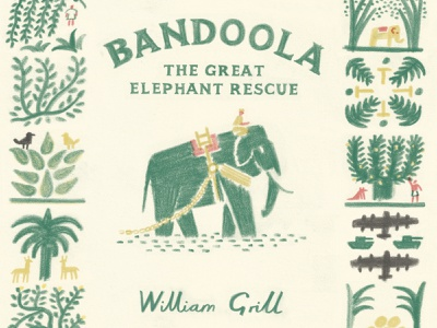 Bandoola colouring pencil publishing book cover william grill drawn folioart digital illustration