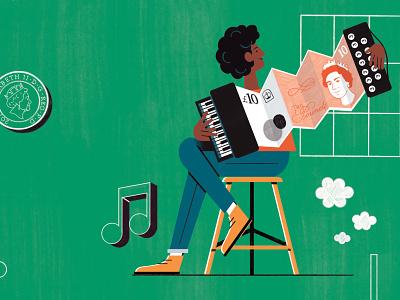 Stretch Your Budget michael driver character money conceptual editorial folioart digital illustration