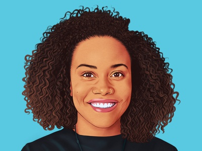 Jha Williams helen green realist portrait editorial folioart digital illustration