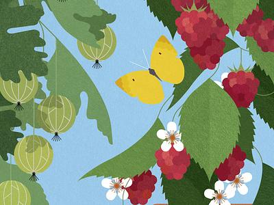 Grow Your Own Grub sally caulwell sustainable botanical food texture vector folioart digital illustration