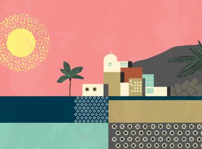 Morocco colour billy clark city pattern folioart digital illustration
