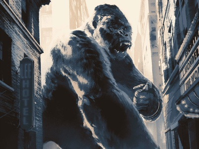 King Kong juan esteban rodriguez poster film texture folioart digital illustration