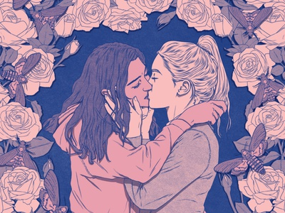 Afterlove publishing sarah maxwell book cover lgbt drawing line folioart digital illustration